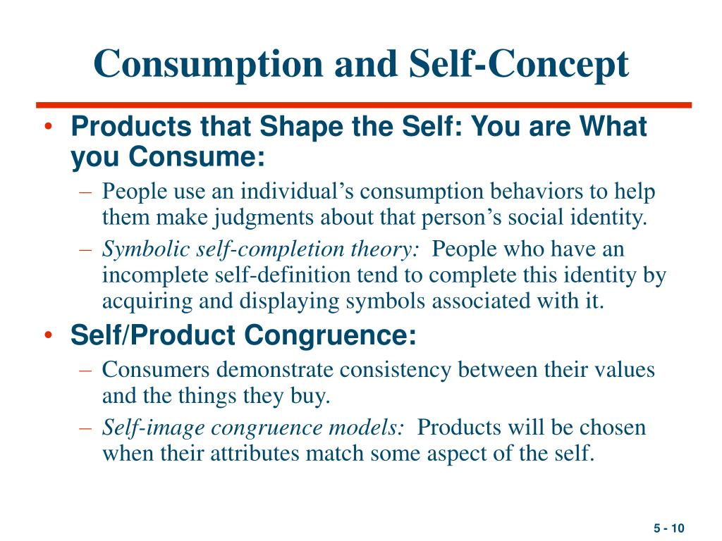 Consumption and Self-Concept