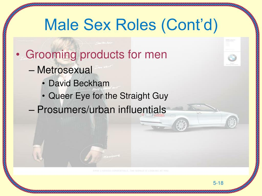 Male Sex Roles (Cont'd)