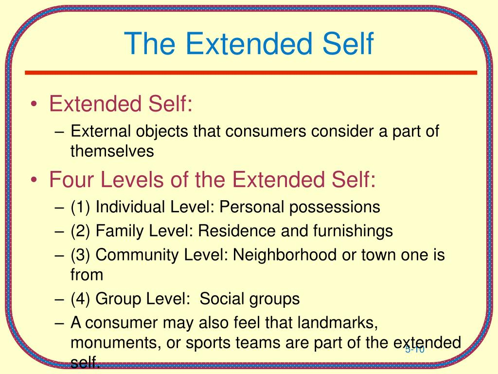 The Extended Self