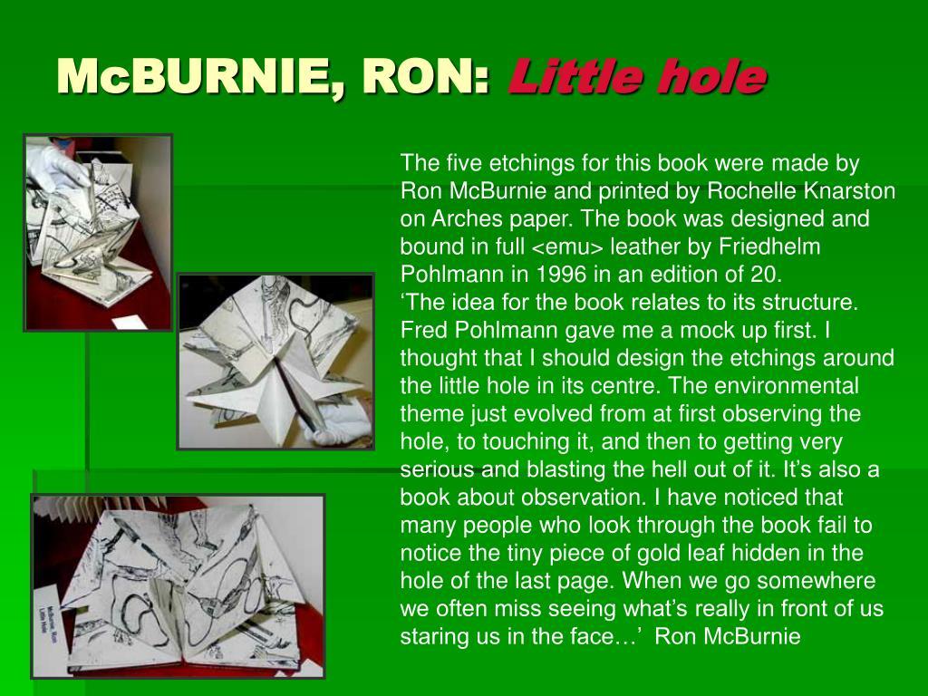 McBURNIE, RON:
