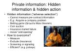 private information hidden information hidden action