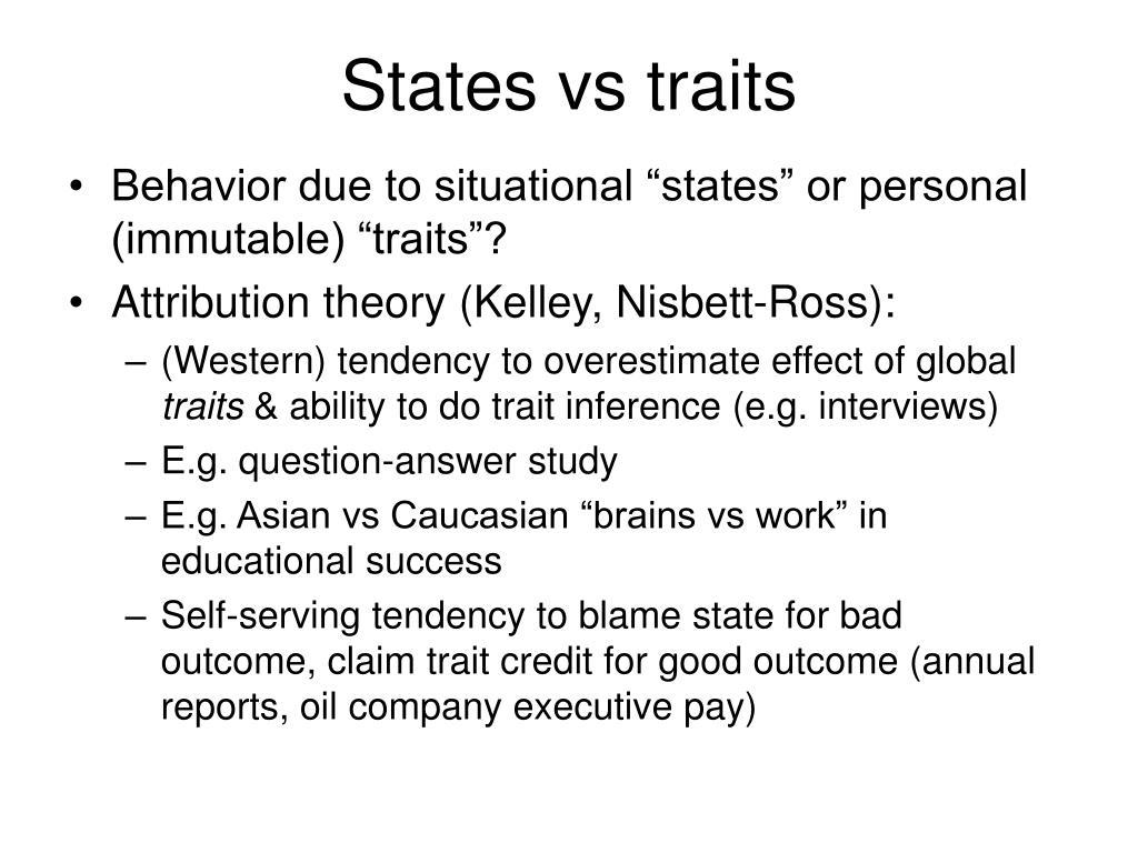 States vs traits