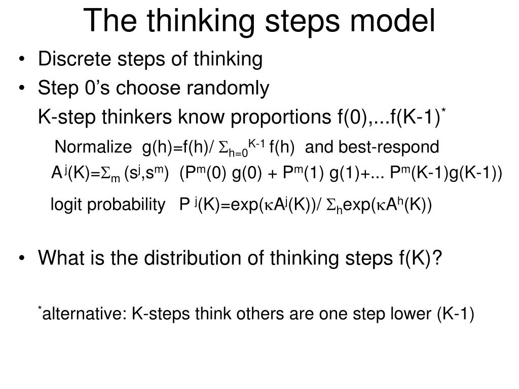 The thinking steps model