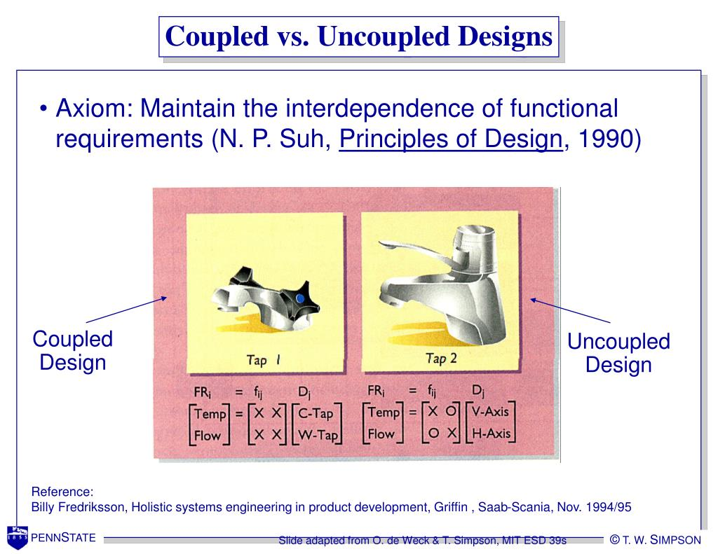 Coupled vs. Uncoupled Designs
