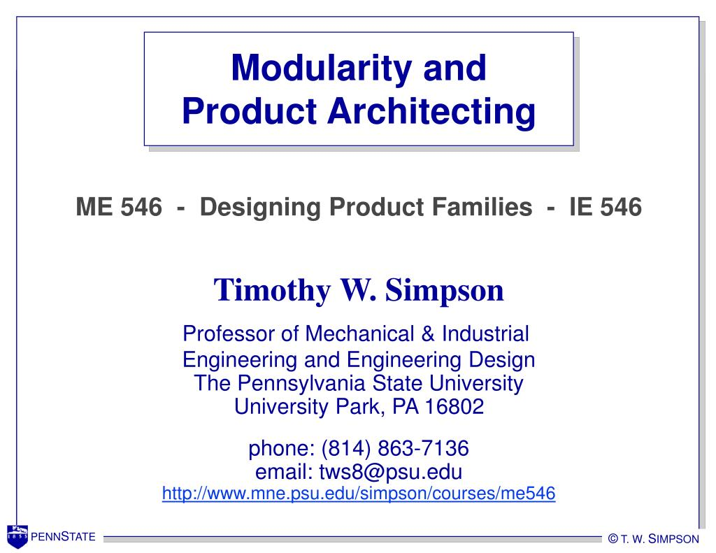 Modularity and