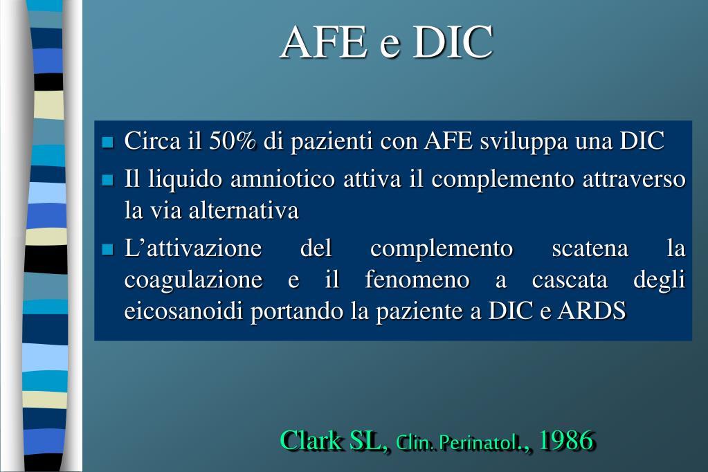 AFE e DIC
