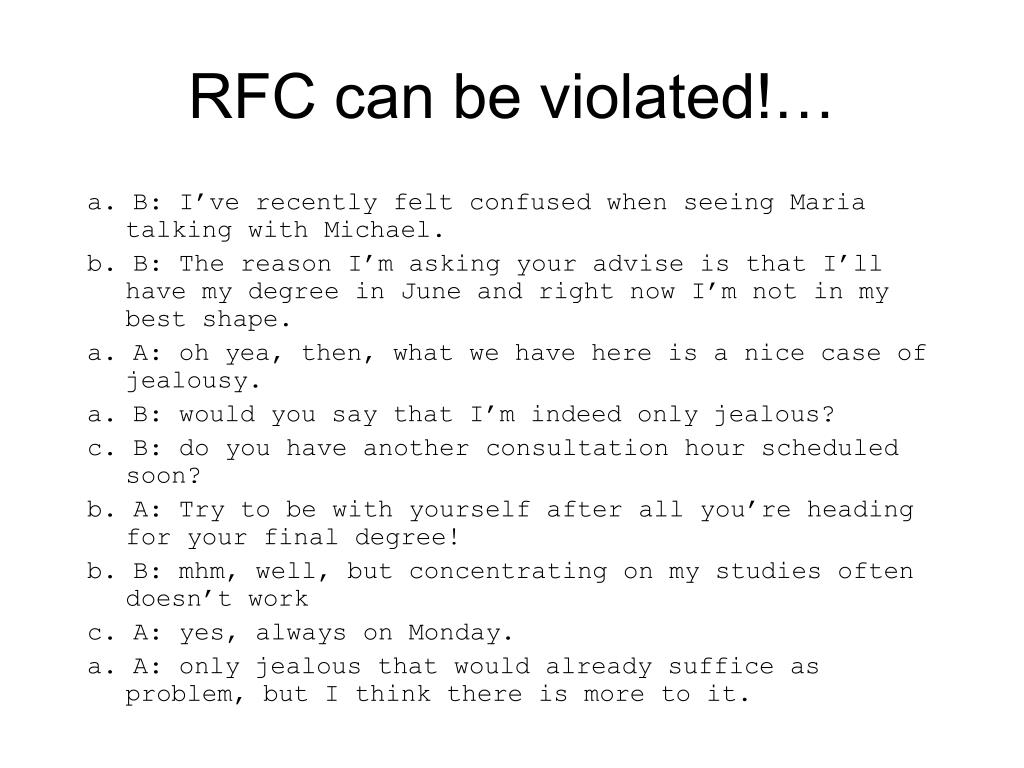 RFC can be violated!…