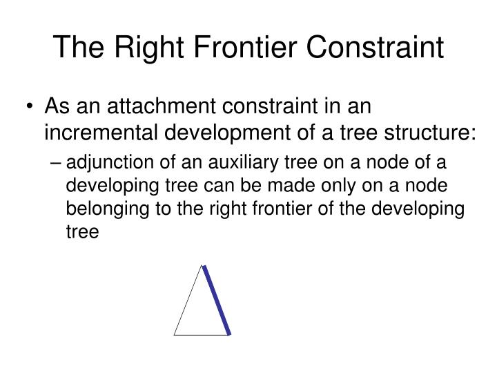 The right frontier constraint