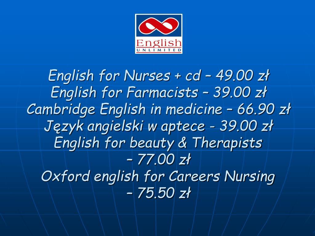 English for Nurses + cd – 49.00 zł
