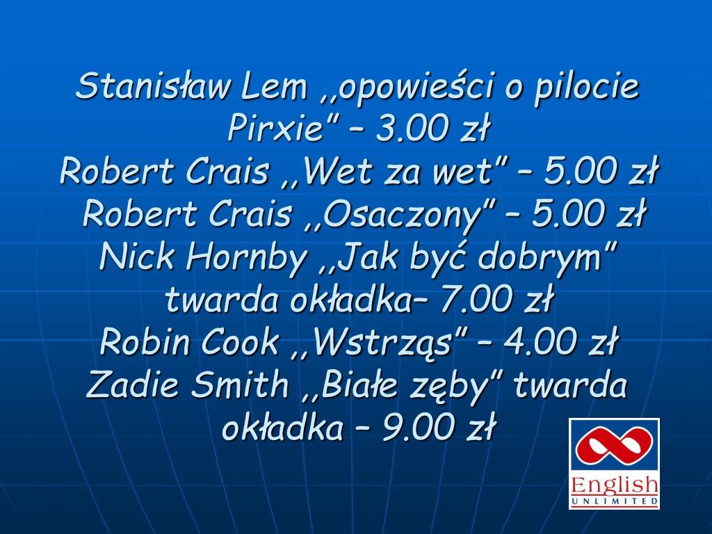 """Stanisław Lem ,,opowieści o pilocie Pirxie"""" – 3.00 zł"""