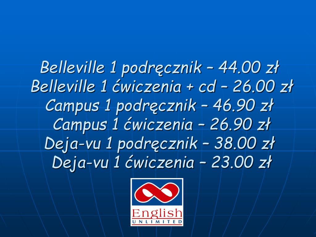 Belleville 1 podręcznik – 44.00 zł