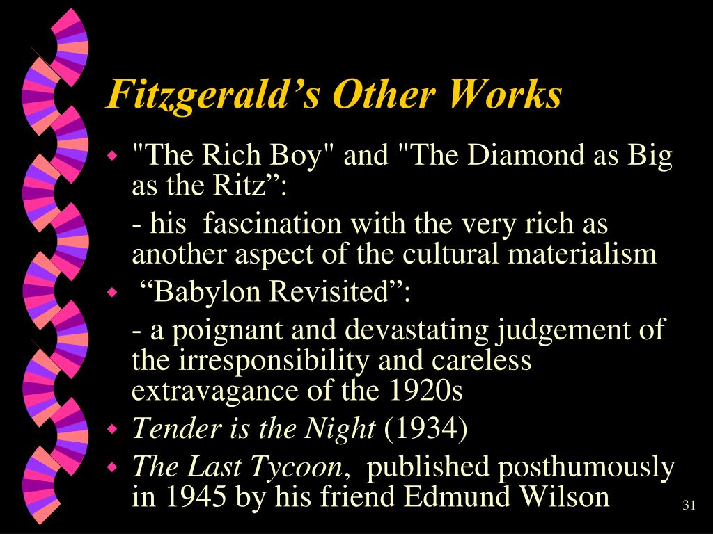 Fitzgerald's Other Works