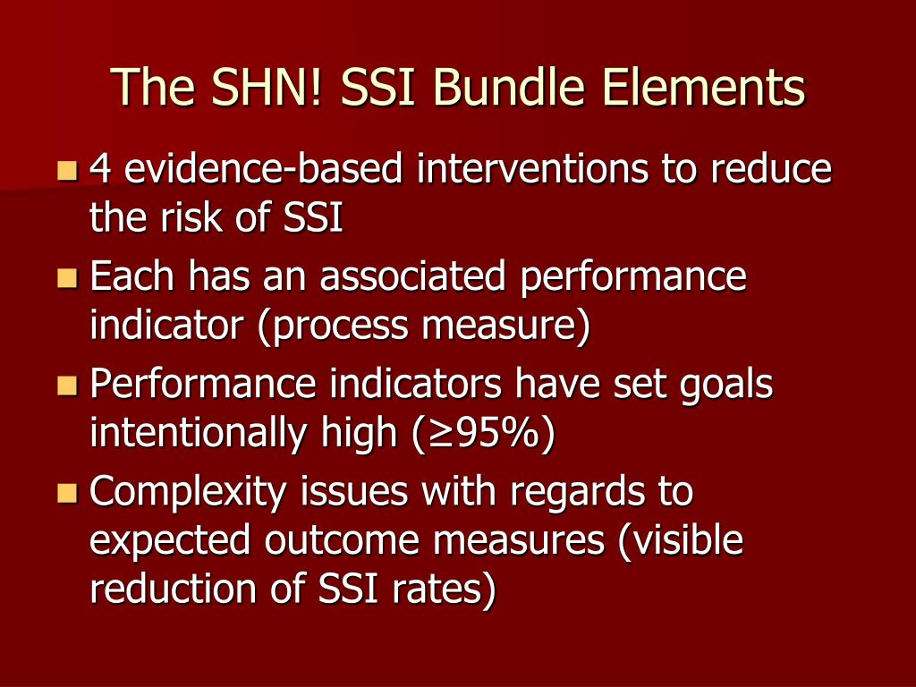 The SHN! SSI Bundle Elements