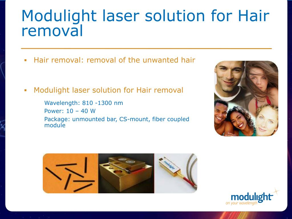 Modulight laser solution for Hair removal