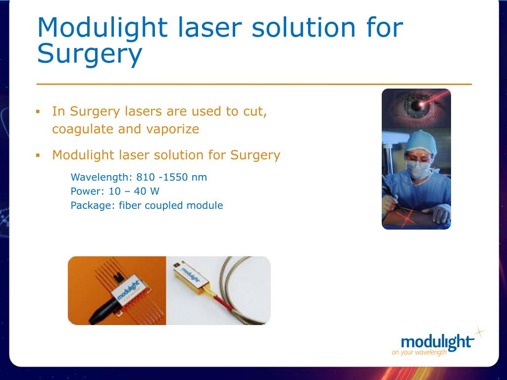 Modulight laser solution for Surgery