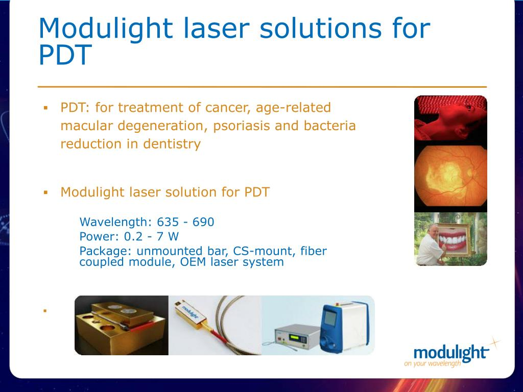 Modulight laser solutions for PDT