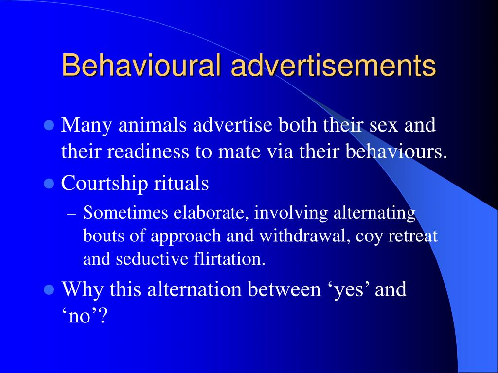 Behavioural advertisements