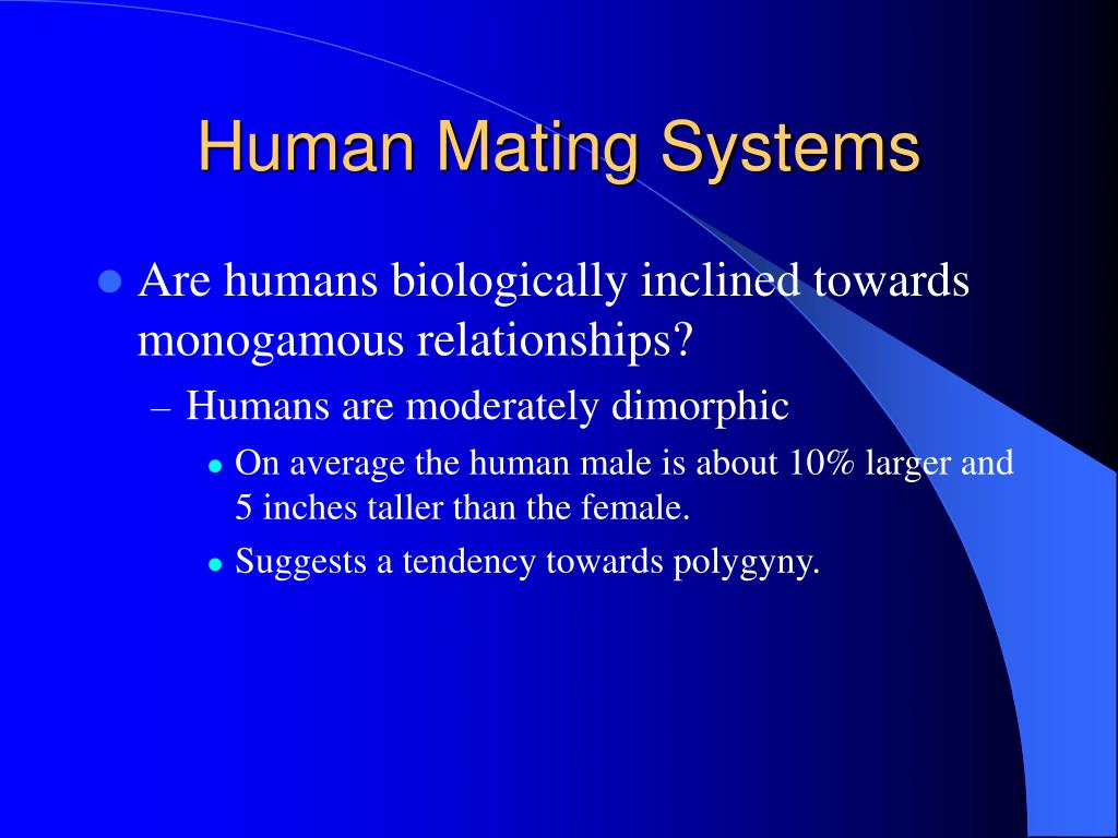 Human Mating Systems
