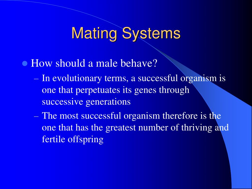 Mating Systems
