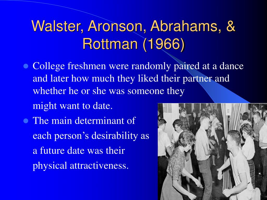 Walster, Aronson, Abrahams, & Rottman (1966)