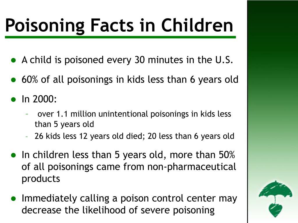 Poisoning Facts in Children