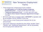 new temporary employment forms