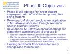 phase iii objectives