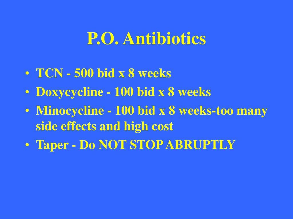 P.O. Antibiotics