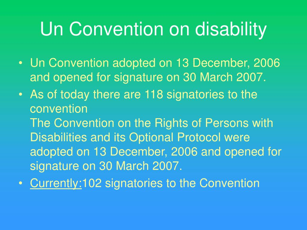 Un Convention on disability