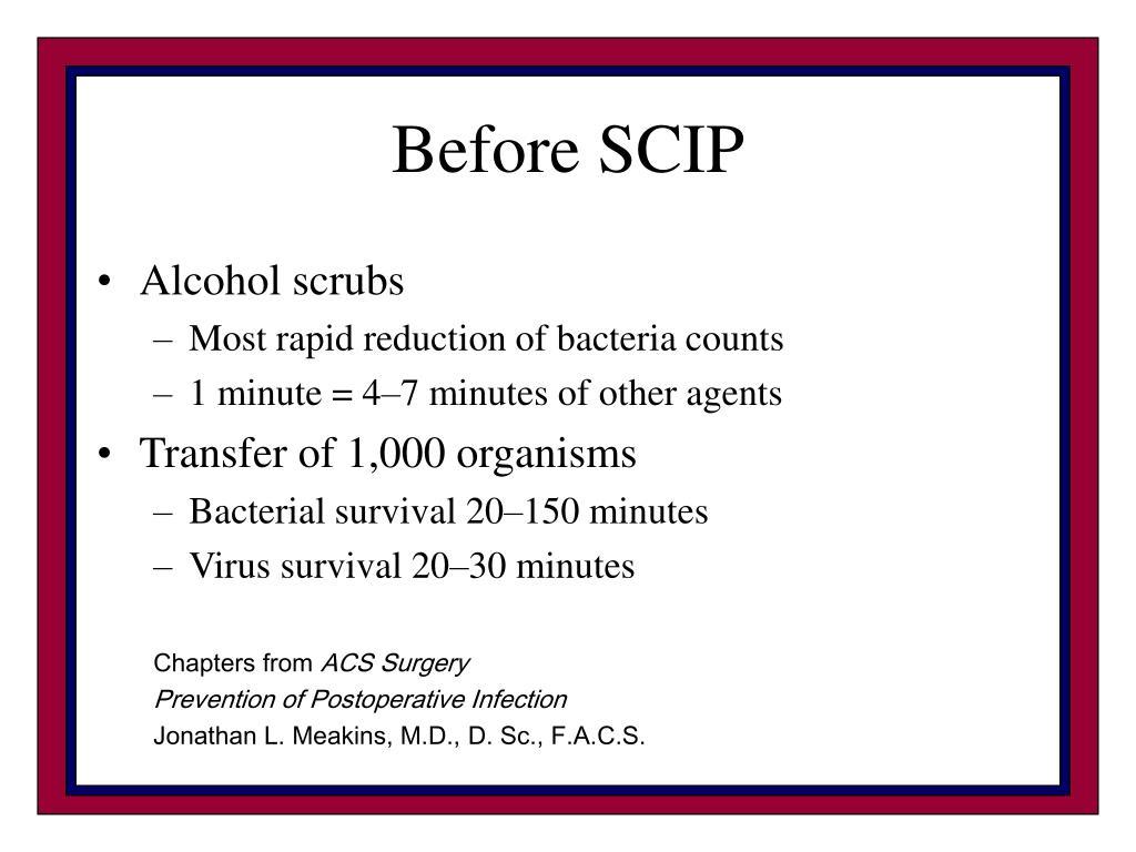 Before SCIP