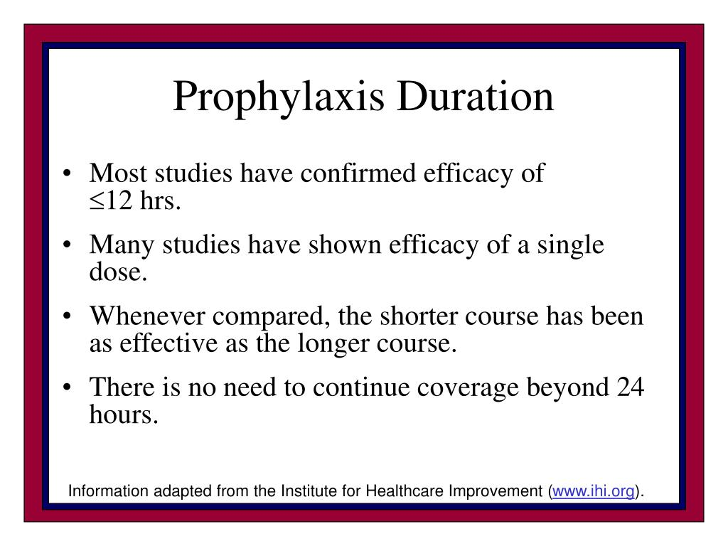 Prophylaxis Duration