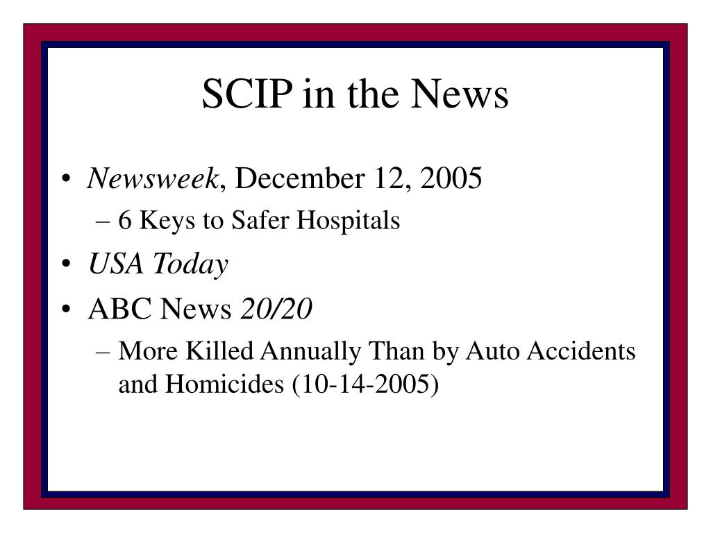 SCIP in the News