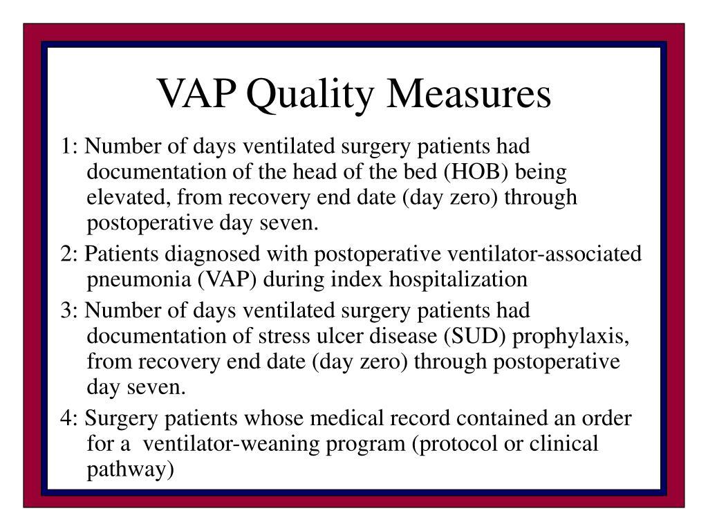 VAP Quality Measures