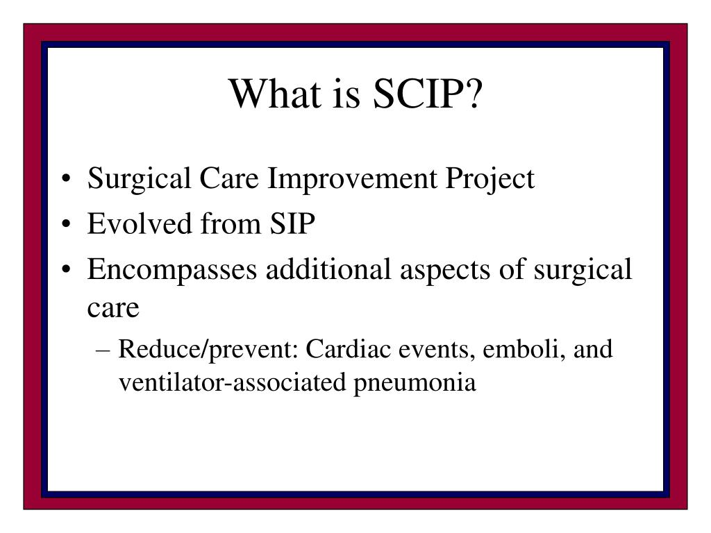 What is SCIP?