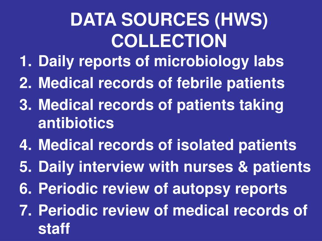 DATA SOURCES (HWS) COLLECTION