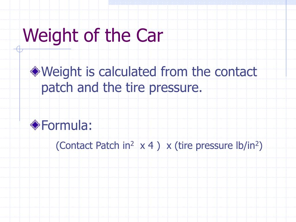 Weight of the Car
