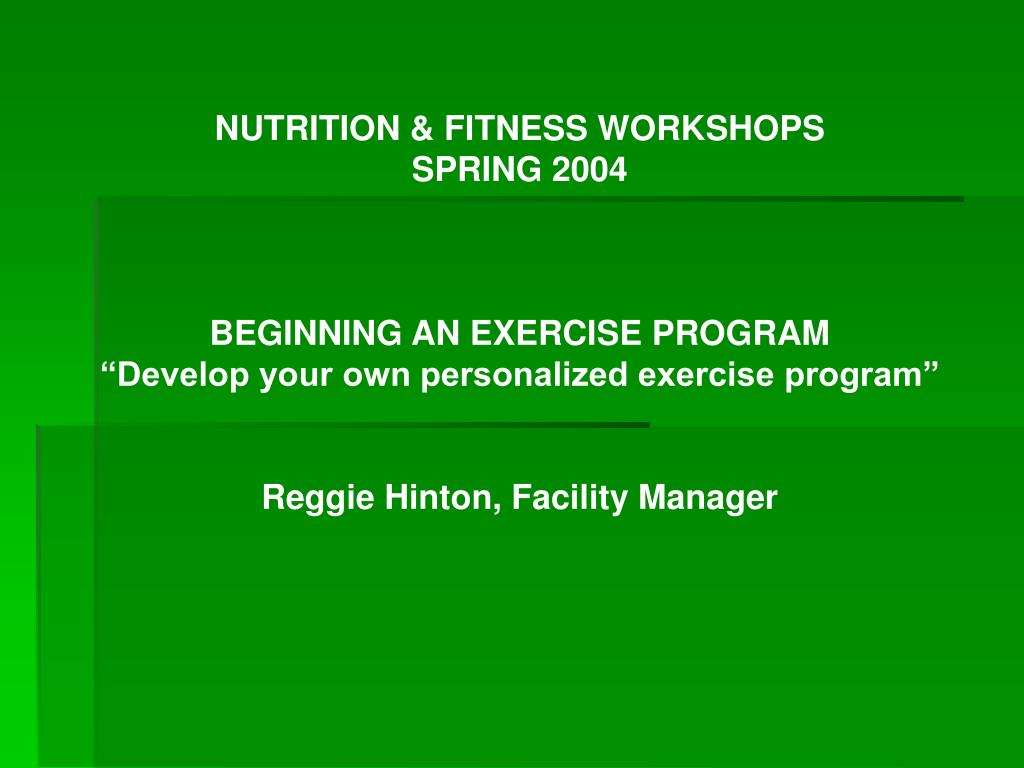 NUTRITION & FITNESS WORKSHOPS