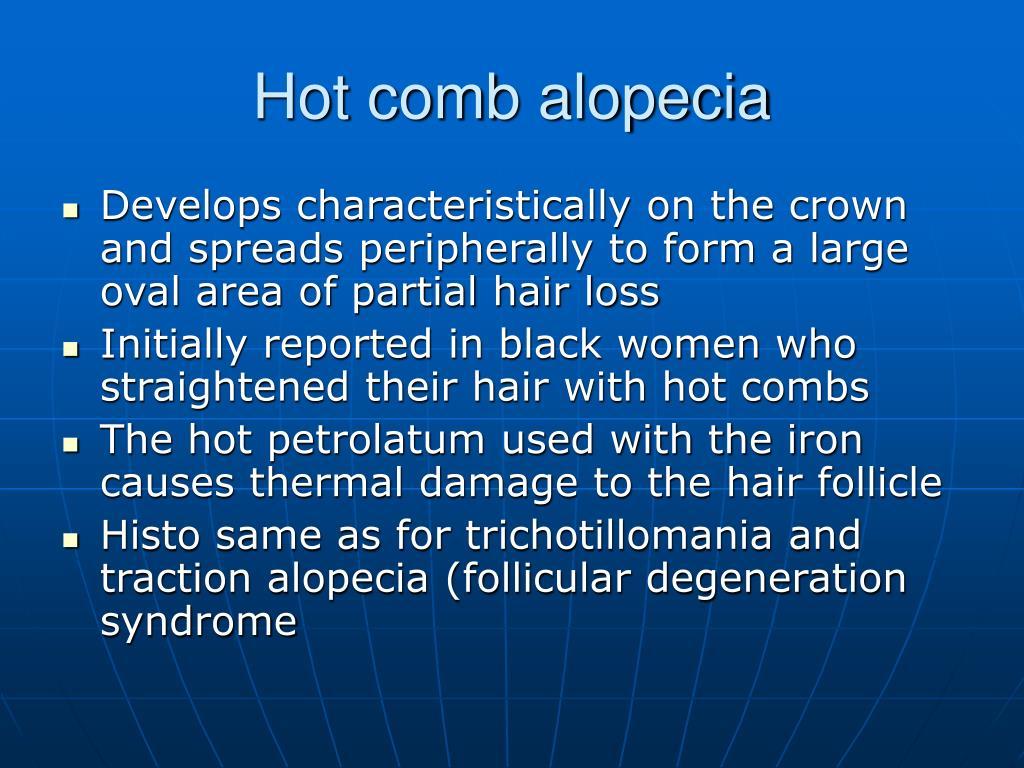 Hot comb alopecia