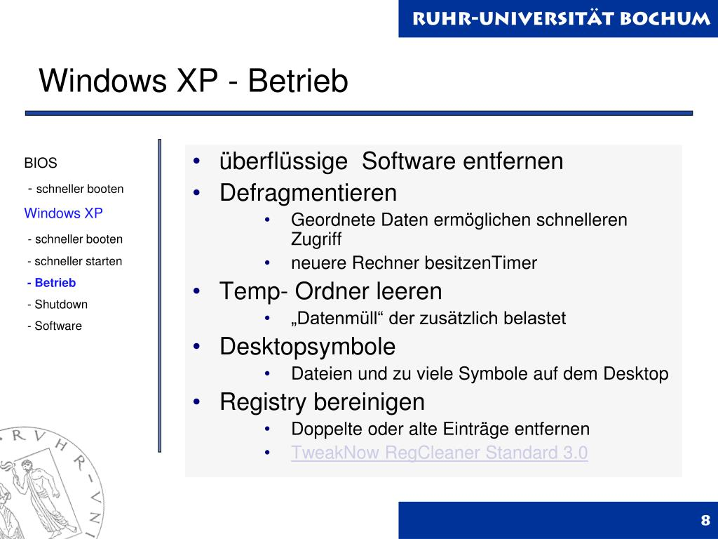 Windows XP - Betrieb