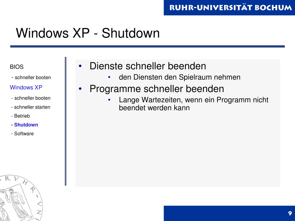 Windows XP - Shutdown