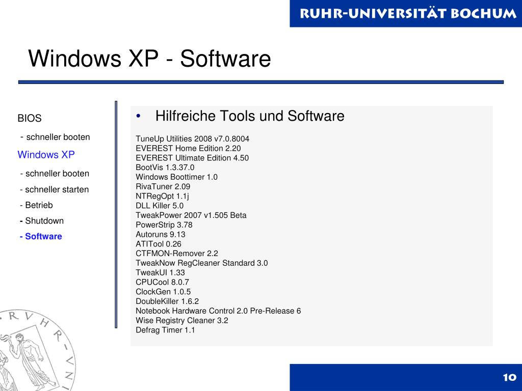 Windows XP - Software