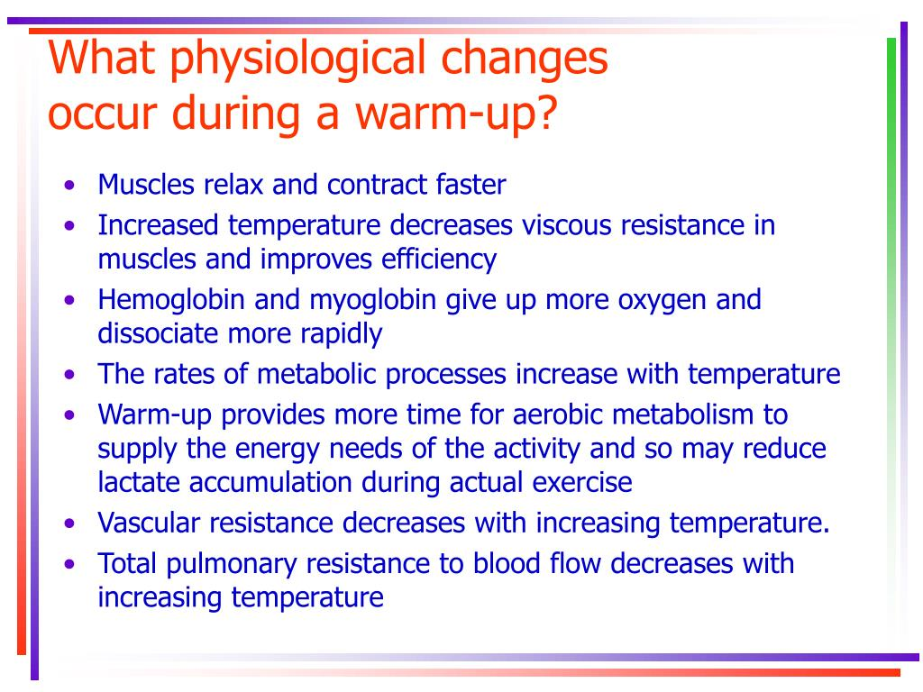 What physiological changes