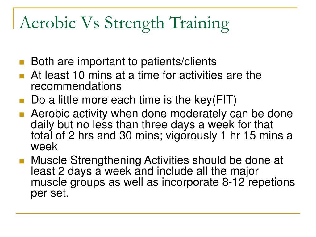 Aerobic Vs Strength Training