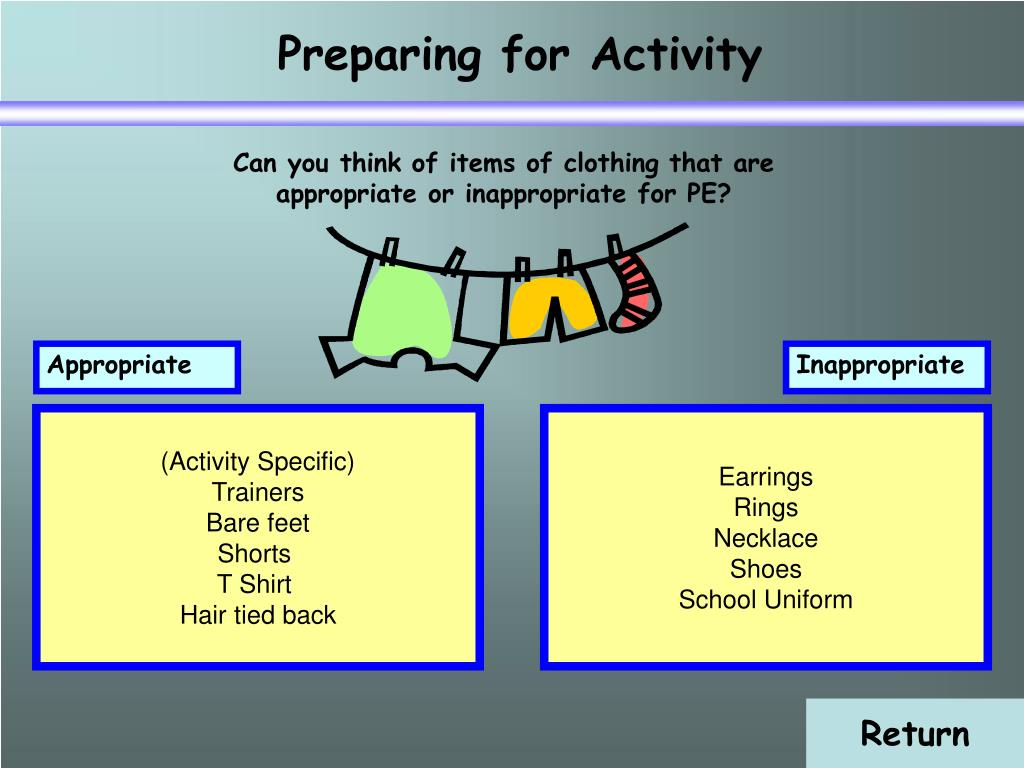 Preparing for Activity