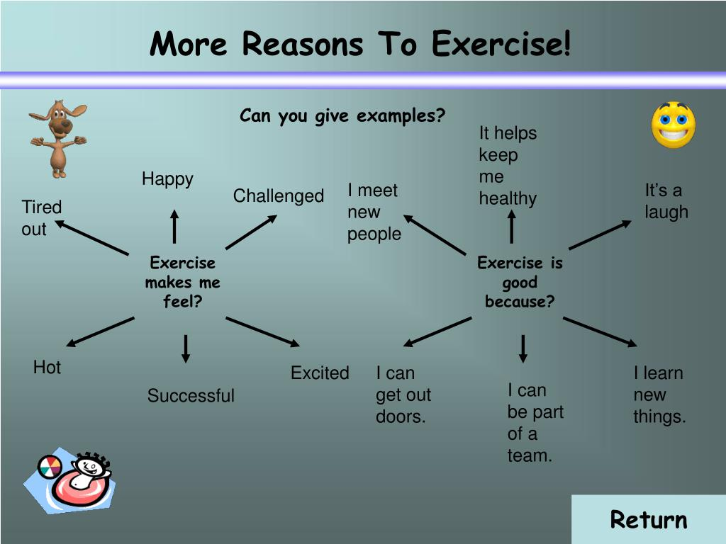 More Reasons To Exercise!