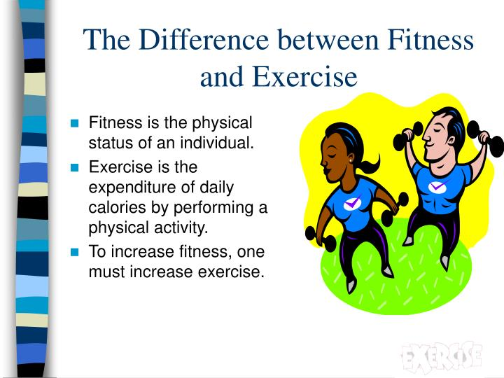 The difference between fitness and exercise