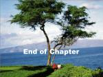 end of chapter