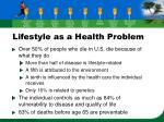 lifestyle as a health problem12