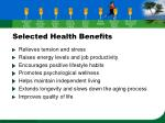 selected health benefits36