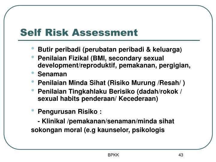 Self Risk Assessment